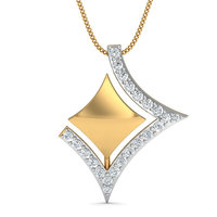 ANI 18K White Yellow Gold (AU750) Women Engagement Bridal Jewelry Set Natural Diamond Ring Necklace Wedding Pendants Earrings 3