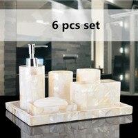 Эко ручной работы, натуральные оболочки Роскошные шесть шт полимерные ванные наборы набор для ванной пять штук в наборе в подарочной коробк