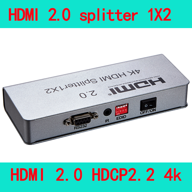 HDMI 2.0 splitter 1x2 1x4 1x8 1 in 2 out 1 in 4 out 1 in 8 out,HDMI 2.0 HDCP2.2 4K IR extension EDID management RS232