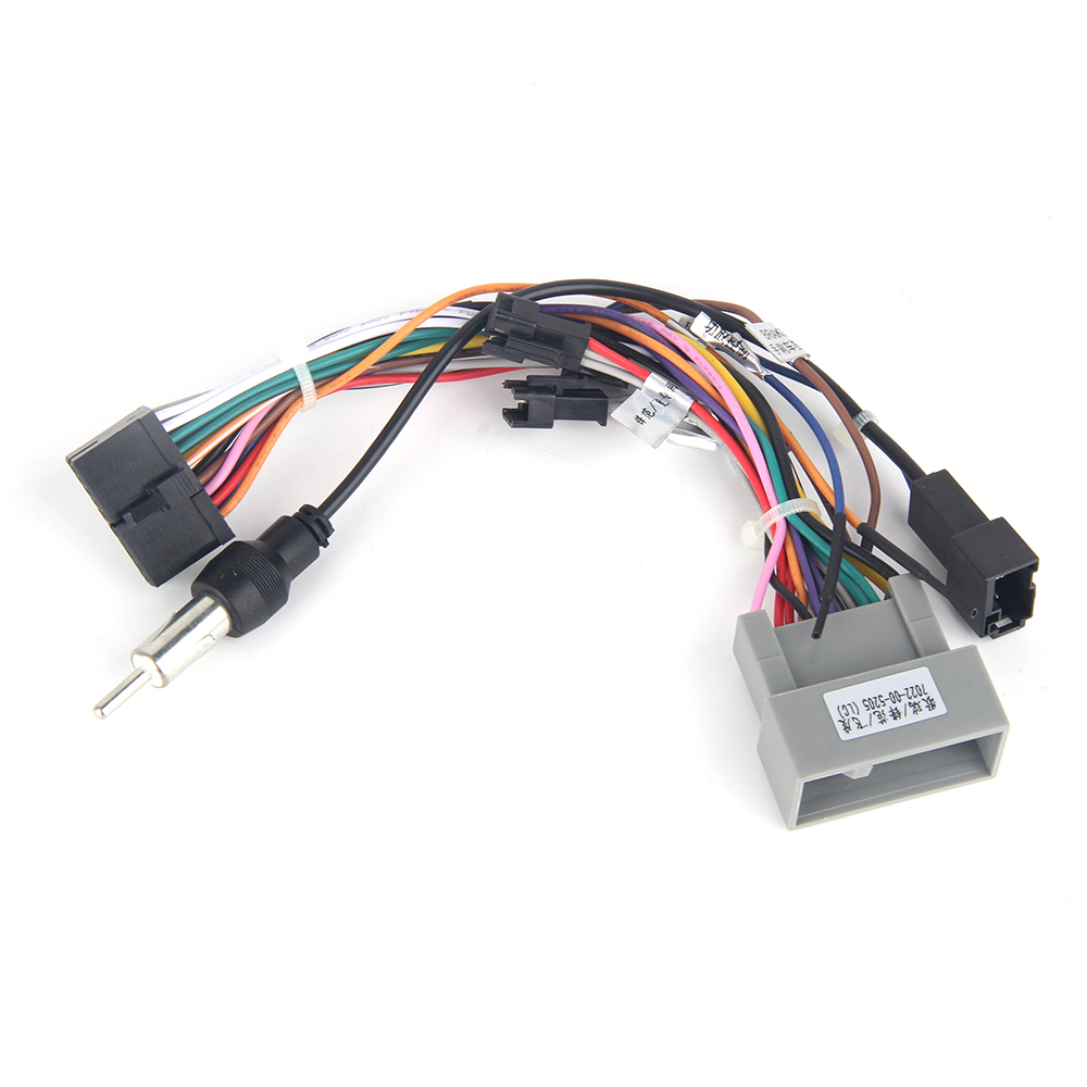 dasaita dyx016 car radio audio wiring harness adapter with radio antenna adapter for honda city fit 2015 aftermarket install [ 1000 x 1000 Pixel ]