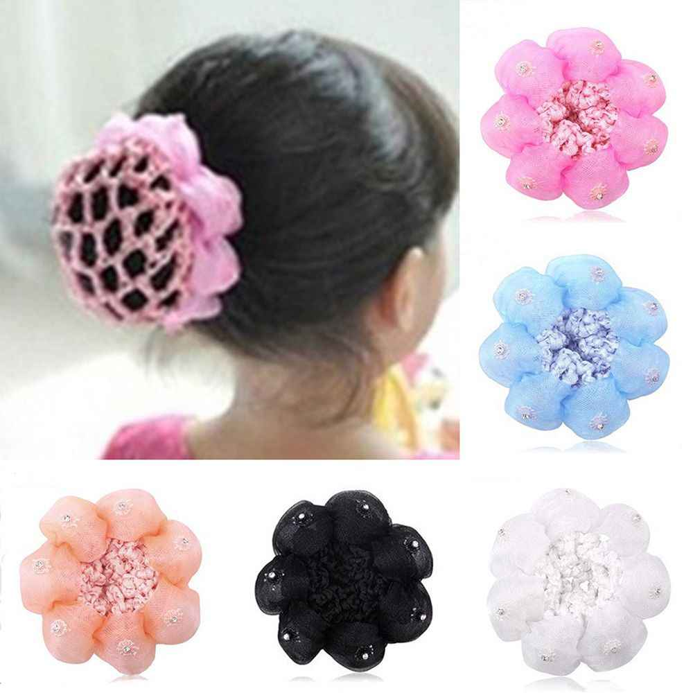 High quality Fashion Girls Kids Child Ballet Dance Skating Snoods Hair Net Bun Cover Black Headwear Hair Styling Accessory