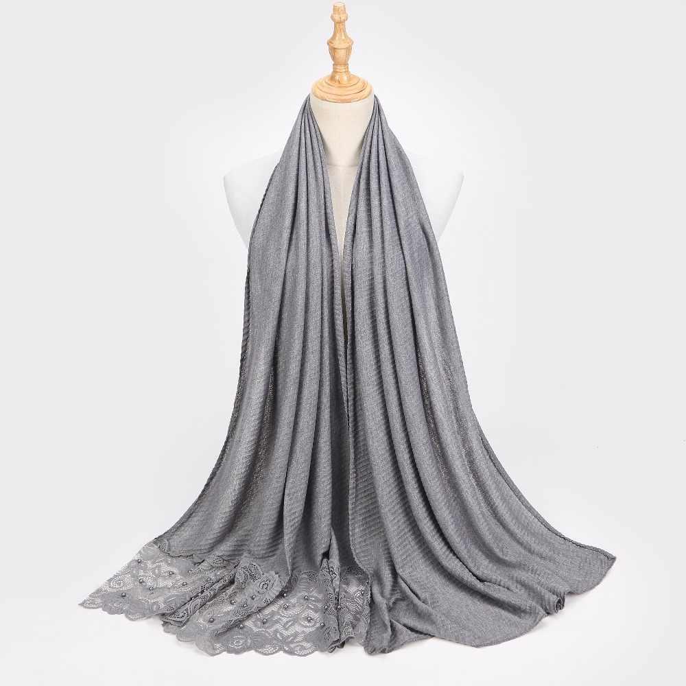 Bufanda de Chifón con burbujas lisas para mujer, bufanda de encaje de moda, tamaño grande, diadema chal, bufandas Hijabs musulmanas/bufanda 200*70cm