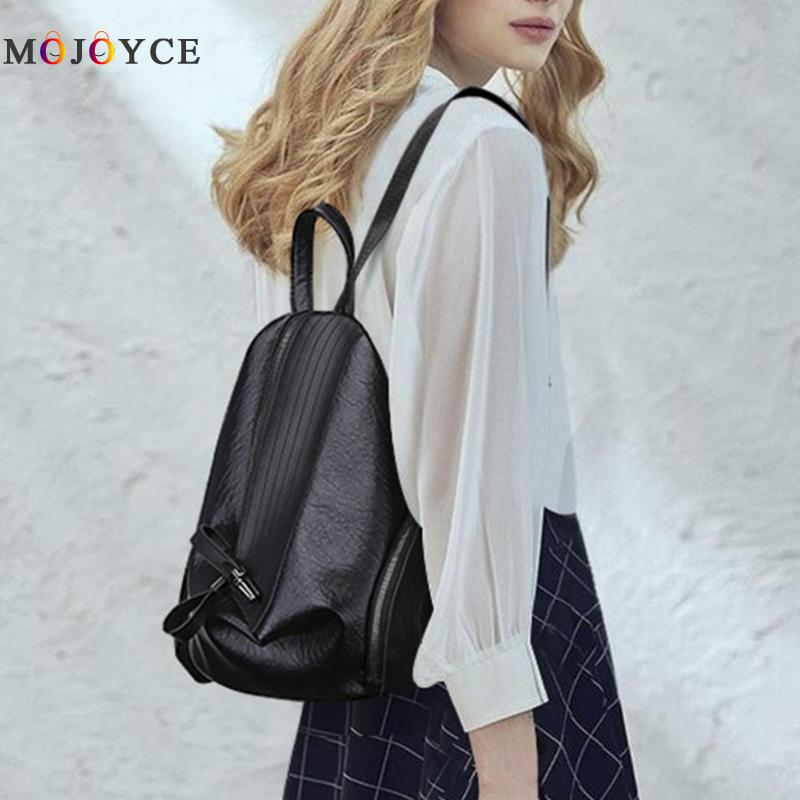 Chic Creative Zipper Open Design Women Backpack Girls Small Size Casual Soft Pu Leather Backpack Female Mochila Feminina #6