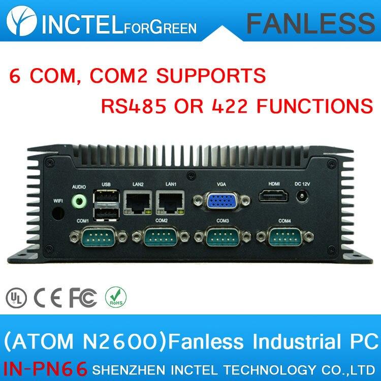 все цены на  Manufacturers custom embedded low power car pc small IPC with atom N2600 6 RS232 COM2 supports RS485 422 function 2 Gigabit Lan  онлайн