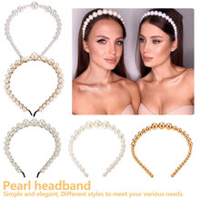 Elegance Trendy Luxury Big Pearl Headband for Women Elegant Wild Personality Fashion Girls Hair Head wear