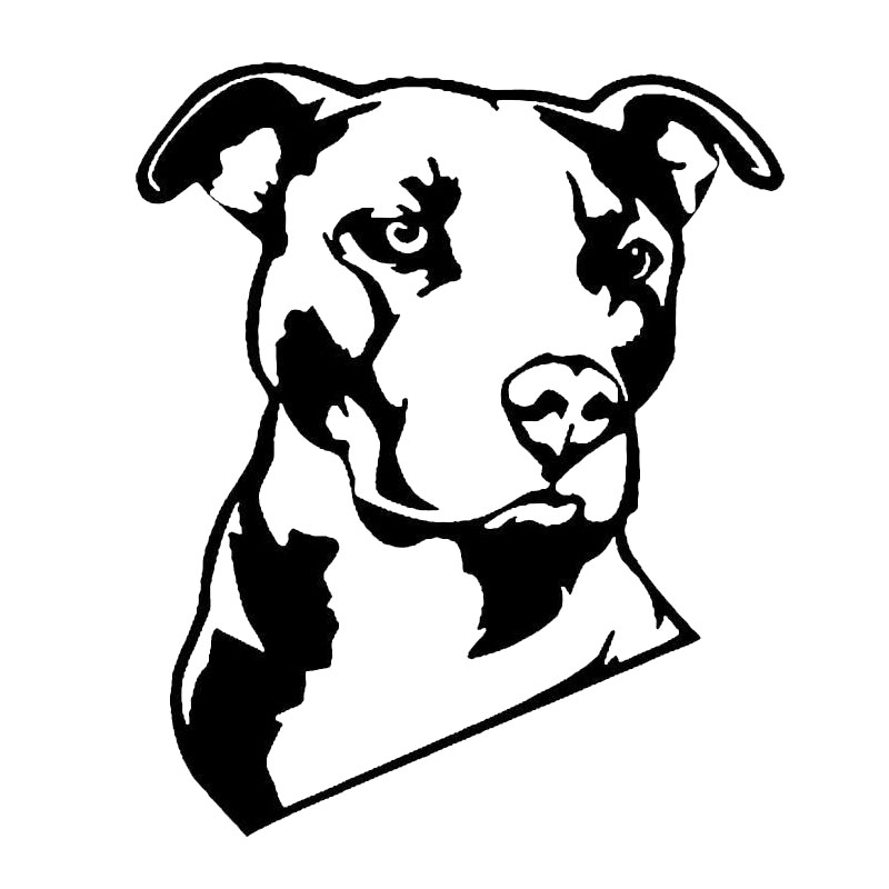 12.7*15.2CM Pitbull Creative Cartoon Dog Vinyl Decal Cool Animal Decorative Glass Car Sticker Black/Silver C6-1738 15 5 12 7cm rottweiler dog vinyl decal cartoon animal car window decorative stickers motorcycle accessories c6 0240