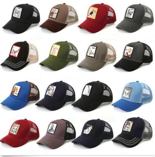 Animals Embroidery Baseball Caps Men Women Snapback Hip Hop Hat Summer Breathable Mesh Sun Unisex Streetwear Freeshipping