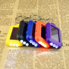 Светодиодный мини-брелок фонарик на солнечных батарейках фонарь Открытый Портативный солнечной энергии Кемпинг Аварийный брелок-фонарик светильник Фонарь лампы
