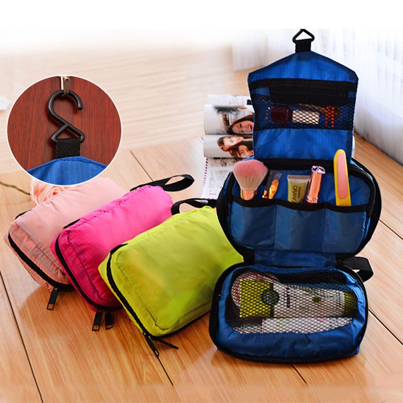 Portable Hanging Multi-function Makeup Cosmetic Bag Toiletry Pouch Storage Popular folding reusable shopping bag portable eco multi function pouch travel durable home storage handbag accessories supplies product