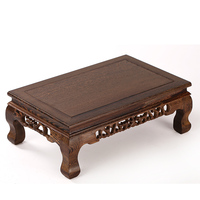 Mahogany furniture wooden wood table window a few Kang antique carved a large set of two