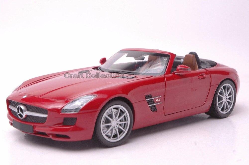 * Minichamps Red 1/18 Scale Mercedez Benz SLS AMG Radster Luxury Collection Diecast Model Car Cabrio