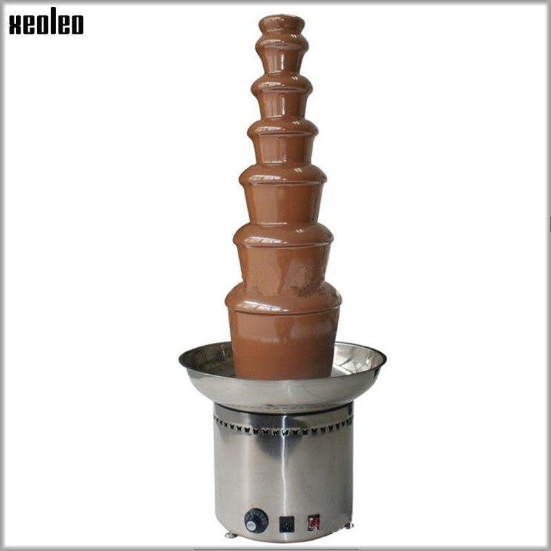 XEOLEO 7 couches 103 CM fontaine commerciale électrique chocolat fontaine Machine chocolat cascade Machine EU/AU/UK Plug 110 V/220 V