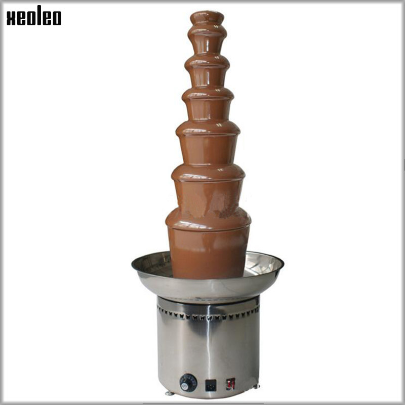 XEOLEO 7-layer 103CM Commercial Fountain Electric Chocolate Fountain Machine Chocolate Waterfall Machine EU/AU/UK Plug 110V/220V free shipping fedex good quality stainless steel 304 103cm 7 tier commercial chocolate fountain self melting