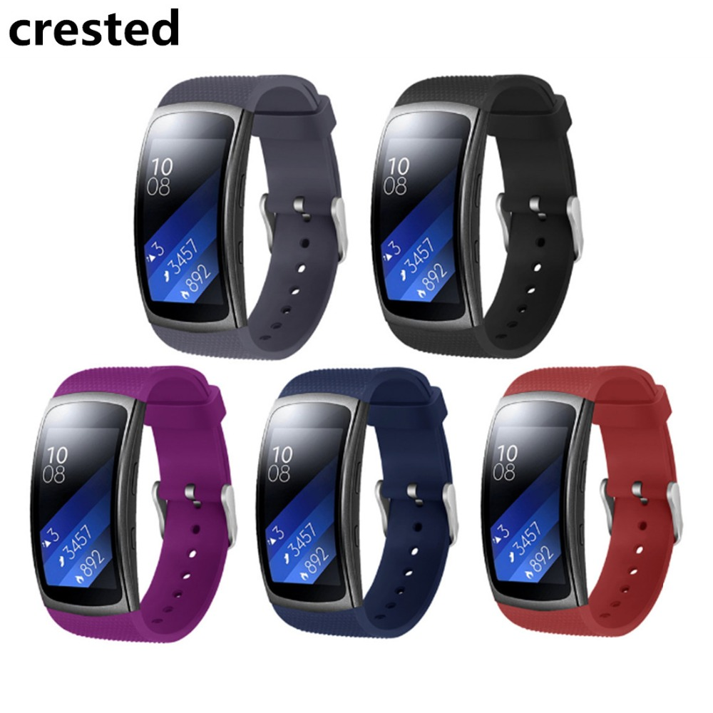 CRESTED silicone sport strap for Samsung Gear Fit2 Pro R360 R365 R366 band wrist Watch band Bracelets replacement rubber strap samsung gear fit в казани