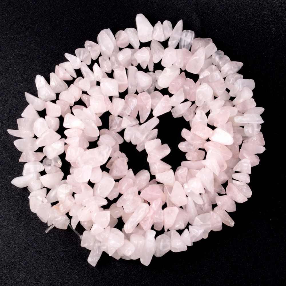 """Rose Rosa Quarz Chips Perlen Für Hand 8mm-12mm Unregelmäßigen Natürlichen Stein Perlen Zubehör Diy Schmuck Machen armbänder 15"""""""