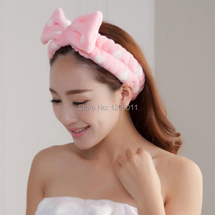 Fashion Korean Style Big Bowknot Headband Lovely Dot Headband Women -8860