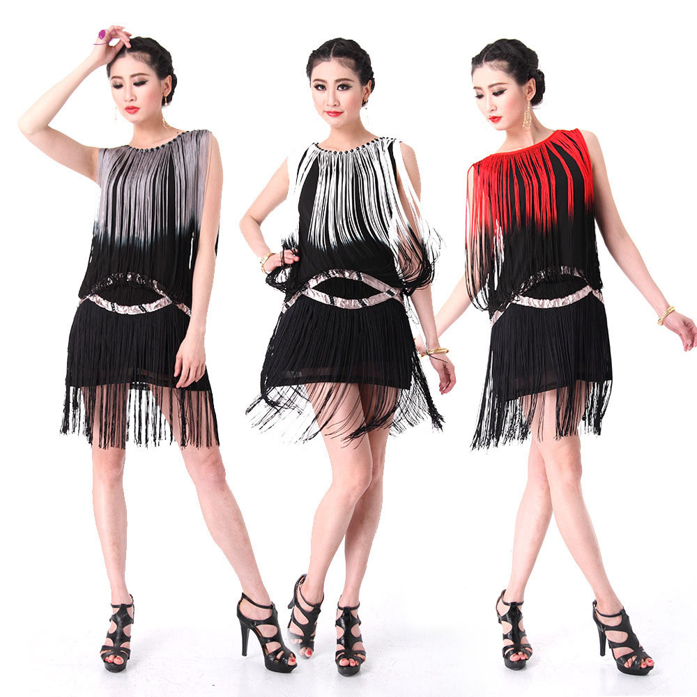 8dd8956af03d Best Price 2016 High quality cheap tassel Latin dance dress for women fringe  latin dance costume skirt on sale 4 colors available For Sale at AliExpress