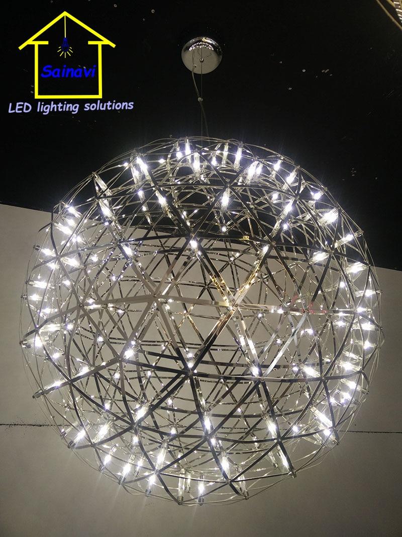 Parts Kit Stainless Steel Led Pendant Light Firework Lamp