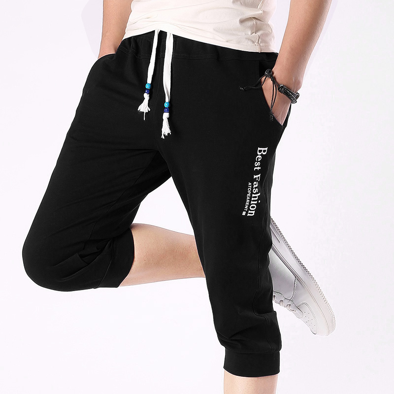Brand New 2018 Summer Mens Capri Shorts Slim Fit Casual Half Shorts Male Knee Length Joggers Short Sweatpants Cropped Trousers