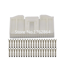 10 Sets 40 Pin white sheathed connector with terminal DJ7401S-0.7-21 40P car