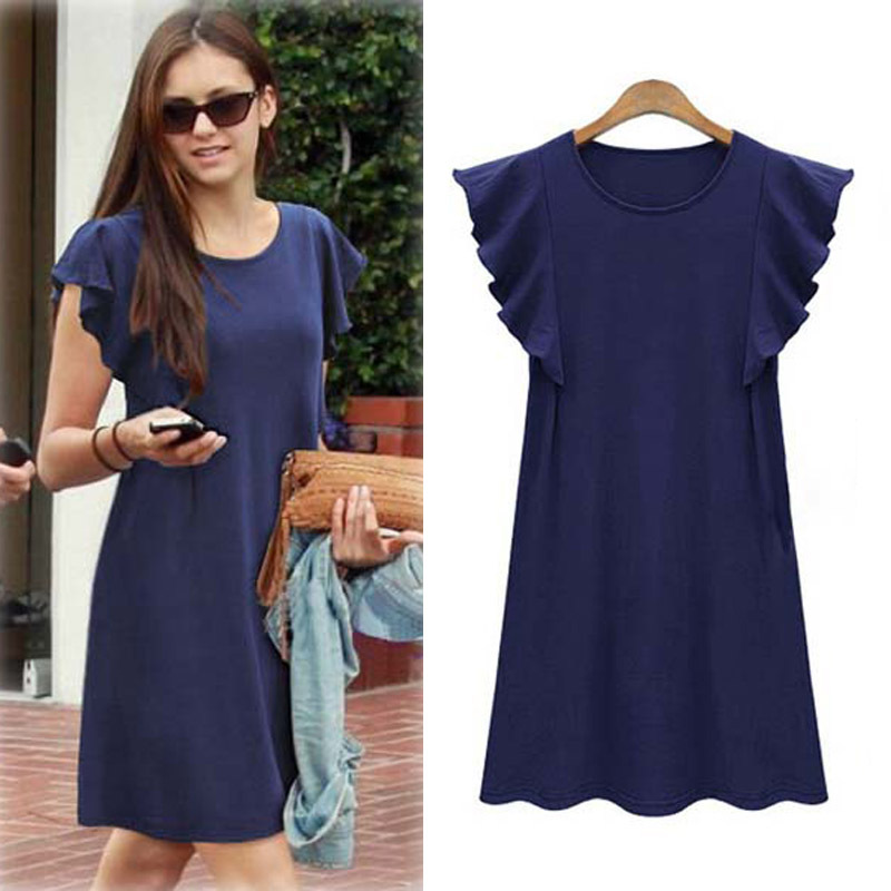 Butterfly Sleeve M 5xl Plus Size Dress Loose Show Thin 2018 Summer