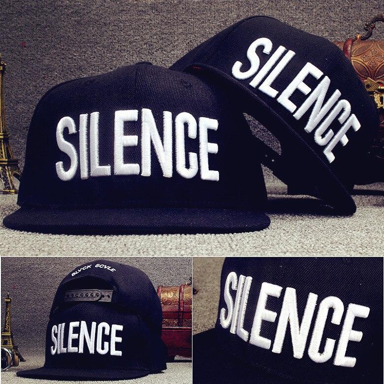 New Fashion Trend 3D Embroidery Letter SILENCE Baseball Cap Adjust Hip Hop Hats Street Luxury Punk Snapback Caps