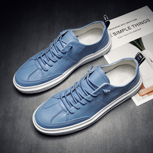 2019 Trend Mens Casual Footwear Lace Up Leather Shoes For Men Autumn Luxury Brand Sneakers Men Hard-Wearing  Casual Adult Shoes cangma british style men luxury brand shoes suede genuine leather sneakers moccasins green casual shoes man adult mens footwear