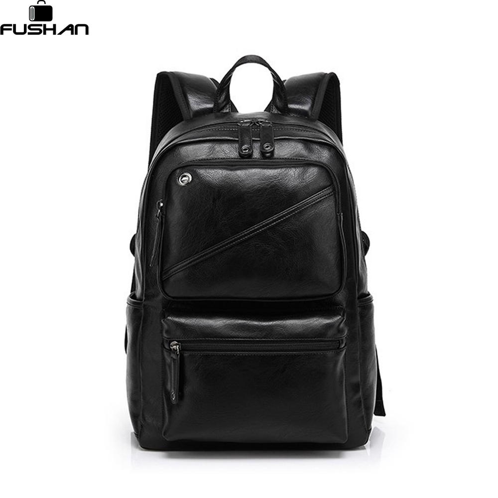ФОТО Fashion Brand leather men backpack new high quality man's backpack large capacity men travel bag duffel bag laptop backpack