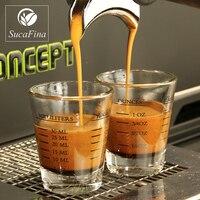 1 шт. 45/60 мл кофе эспрессо с калибровкой кофейная чашка утолщенное стекло