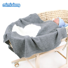95x75cm Air Conditioning Baby Blanket Cover Summer Autumn Winter Loving Knitted  Swaddle Wrap Kids Infant