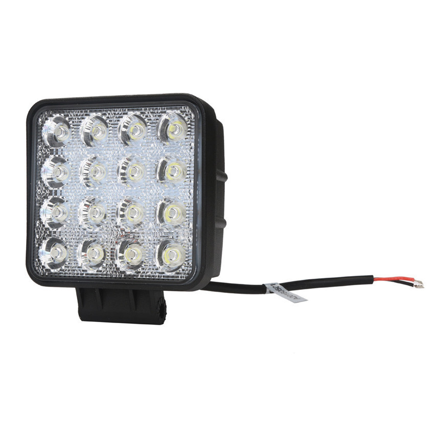High Quality   48W 16 LED for Work Lamp Light Bar Spot Offroad Tractor Car Boat Truck 12V 24V high quality 10w led spot work light 12v 24v car auto fog lamp motorcycle truck headlight