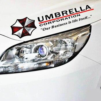 Etie śmieszne akcesoria korporacji Umbrella brwi światła odblaskowe naklejki samochodowe naklejka dla Audi A3 Honda Hyundai Kia 2 BMW E90