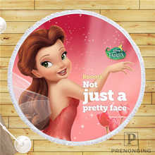 Custom DIY Customized Microfiber Fabric Tinkerbell-CuteDesktop@ Round Beach Blanket Towel Printed on Demand 150cm #19-01-28-1-20(China)