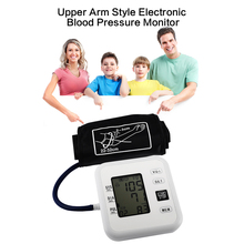 Professional Blood Pressure Monitor Upper Arm Style Electronic Blood Pressure LCD Display Systolic Diastolic Pulse Health Care