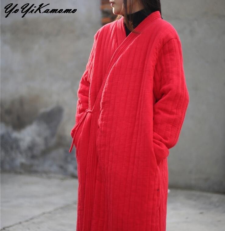 YoYiKamomo Vintage épais femmes Parkas hiver 2017 nouveau l'original chaud coton linge bref femmes hiver manteau-in Parkas from Mode Femme et Accessoires    1