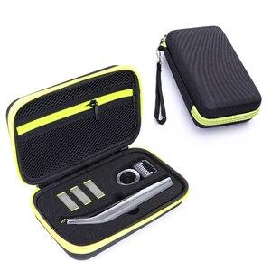 Image 1 - Draagbare Case voor Philips OneBlade Pro Trimmer Scheerapparaat Accessoires EVA Reistas Opslag Pack Box Cover Zipper Pouch met Voering