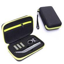 Estuche portátil para afeitadora Philips OneBlade Pro, accesorios de EVA, bolsa de viaje, caja de almacenamiento, funda con cremallera, con forro