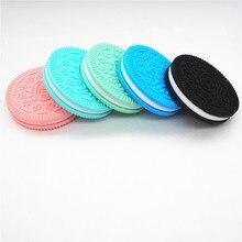 Chenkai 10PCS BPA Free Silicone Biscuit Teether DIY Baby Oreo Cookie Pendant Pacifier Dummy Nursing Sensory Teething Toy Gift