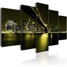 5 шт hd плакаты и принты города строительство пейзаж холст картина