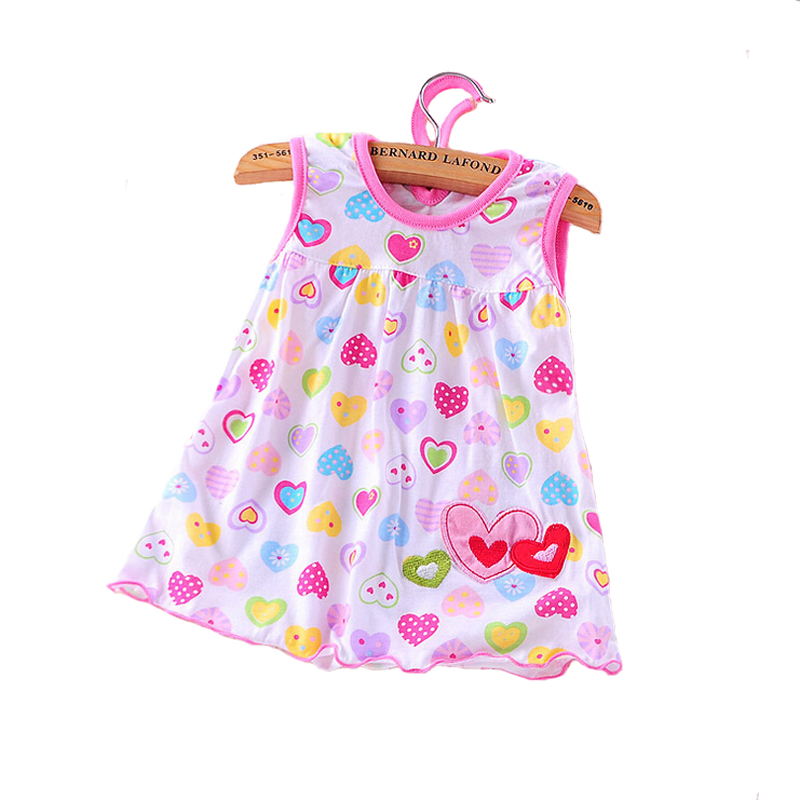 2019 Cute Vestido Infantil Baby Girl Dress Cotton Regular Sleeveless A-Line Dresses Casual Clothing Mini Princess 0-24 Months