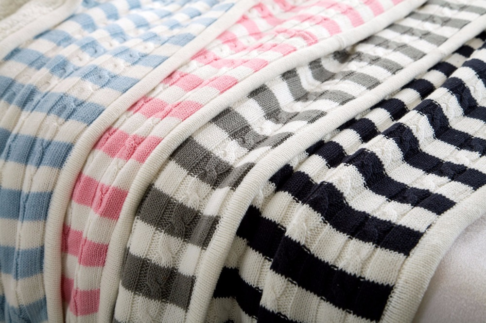 New Striped Men Thickening Knitting Throw Blanket for Bed/Home Sofa Cover Quilt Winter Blanket Thread Linens Navidad Bedspread