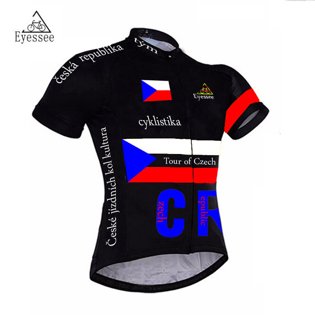 681b2213b Eyessee pro bicycle clothing Tour of Czech Republic cycling Jerseys   2018  cyklistika short sleeve national flag bike jersey