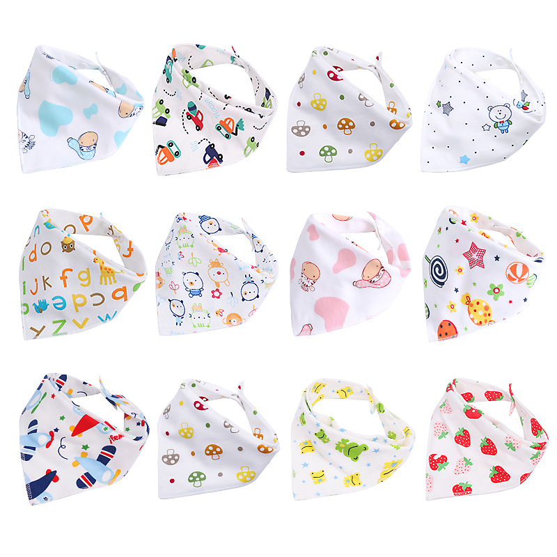 10 шт./лот 100% хлопковый треугольный головной платок для мальчиков платок, комплект одежды для девочки, детский бандана слюнявчик для детей