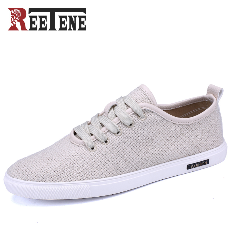 REETENE Spring Casual Shoes Mens Canvas Shoes Men Summer Lace Up Canvas Shoes For Men Sneakers Chaussures De Toile Casual Flats все цены