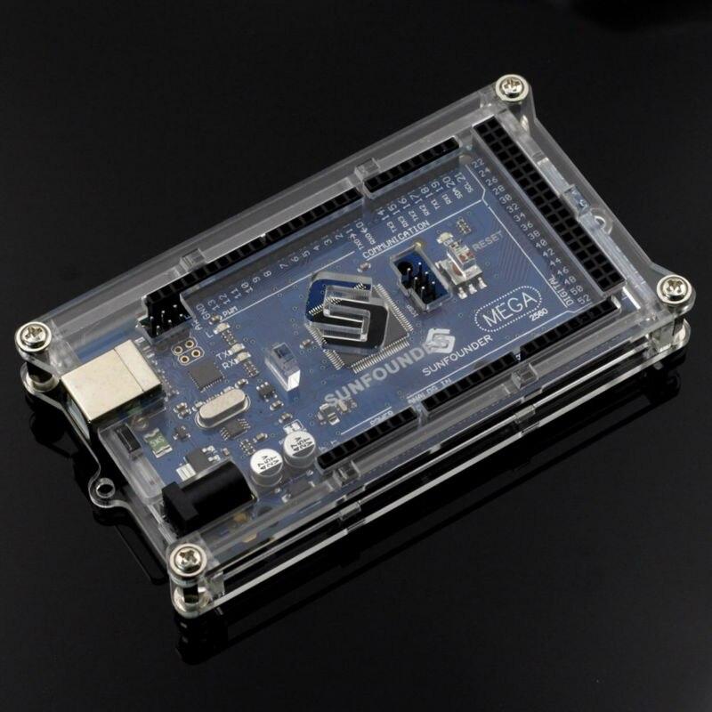 Mega 2560 Case Enclosure Transparent Gloss Acrylic Computer Box For font b Arduino b font Mega