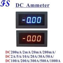 Yb5135b dc medidor de corrente led digital amperímetro dc 200ua 20ma 200ma 10a 20a 50a 100a 200a 500a 1000a ampère medidor de painel