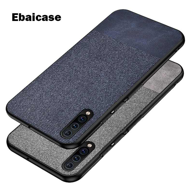 For Samsung A50 Case Cloth Fabric Silicone Edge Shockproof Case for Galaxy A7 2018 A6 A8 Plus A9 2018 A8S A9S Star Pro A30 Case