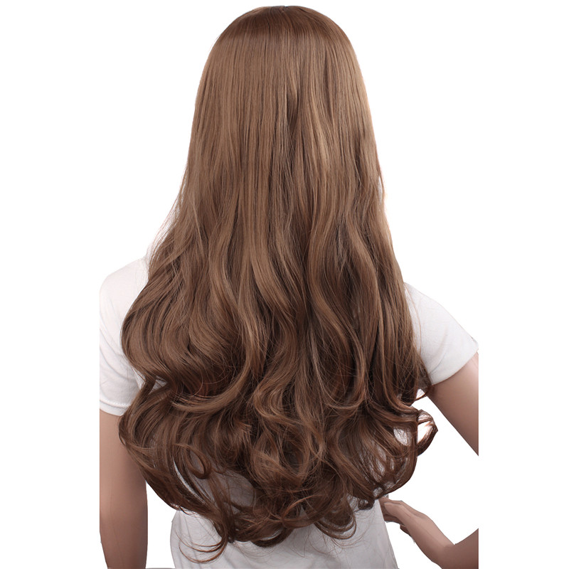 Mapofbeauty Long Loose Wave Light Dark Brown Black 75cm Women Wigs Cosplay Ladys Heat Resistant Synthetic Full Hair Always Buy Good Synthetic None-lacewigs Hair Extensions & Wigs