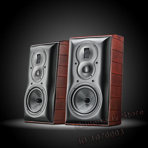 M803A High Fidelity Bookshelf Speaker Three Way Four Order Inverted System Luxurious Natural