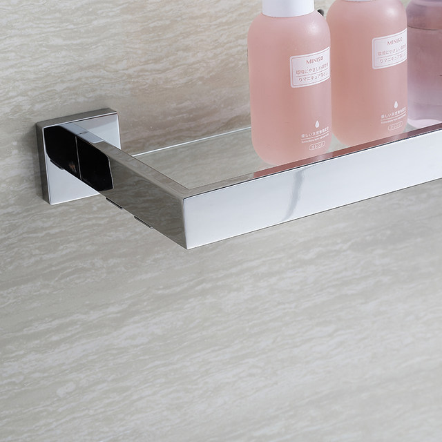 Online Shop BLHTZ05 Vetro Mensole Bagno Shampoo Holder In Acciaio ...